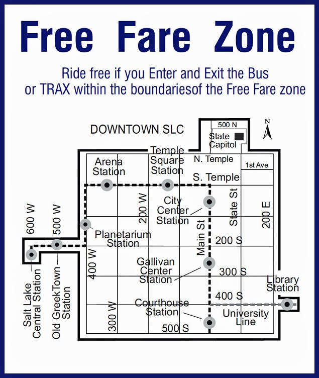 Free Fare Zone Map